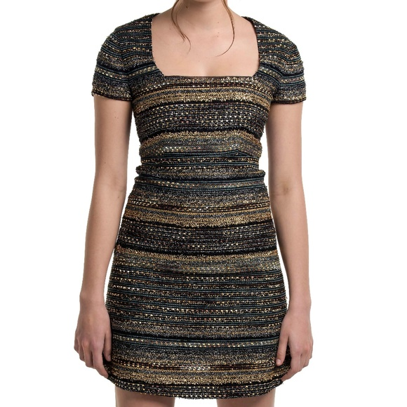 Luba by Hannah Payne Dresses & Skirts - NWT Luba 'Ashley' metallic striped dress